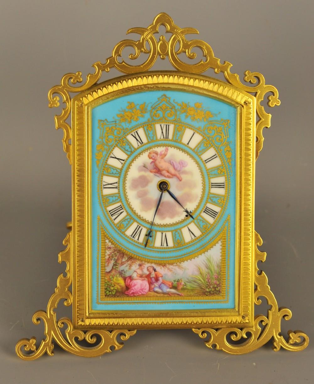 thomas cole style porcelain dial strutt clock
