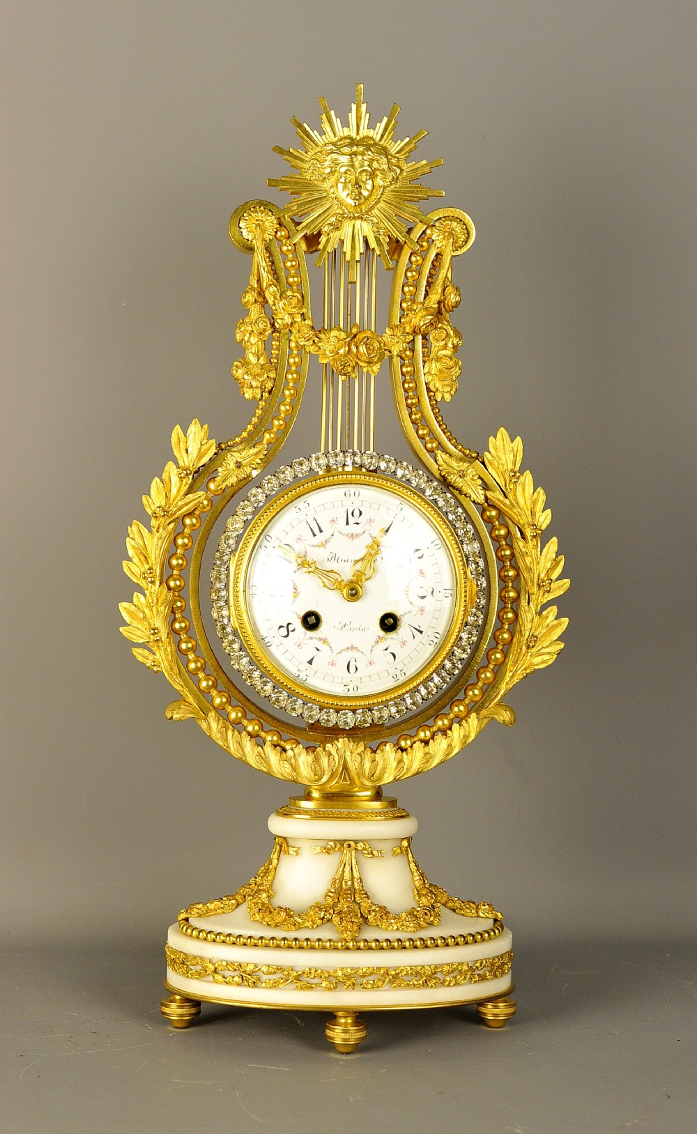 fine ormlou french lyre clock