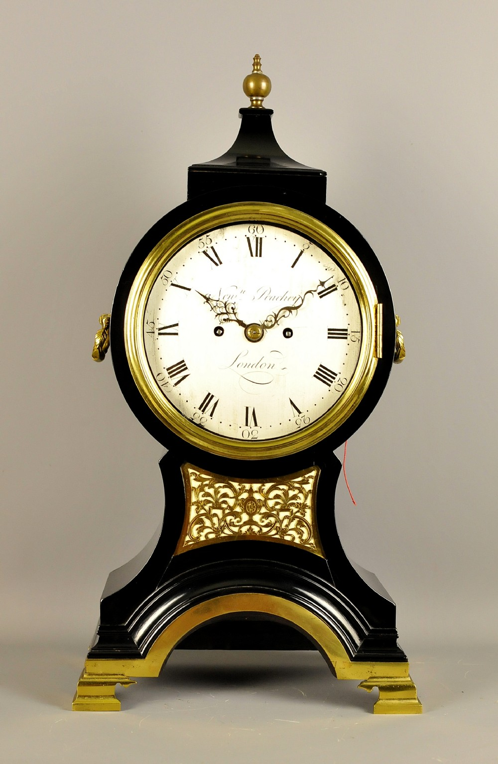 fine georgian verge balloon clock newman peachy london