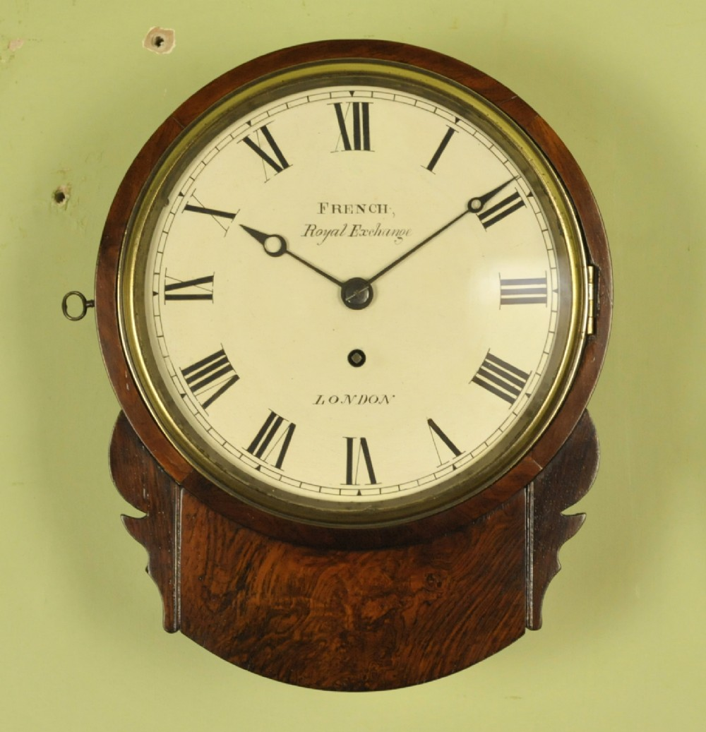 excellent 8 inch rosewood fusee dial clock french london