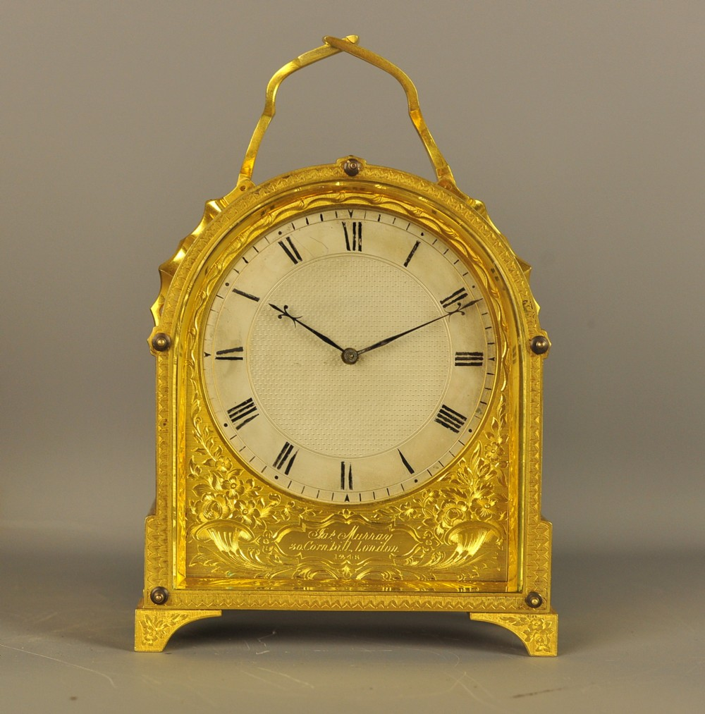 excellent english fusee carriage clock james murrey london probably case by thomas cole