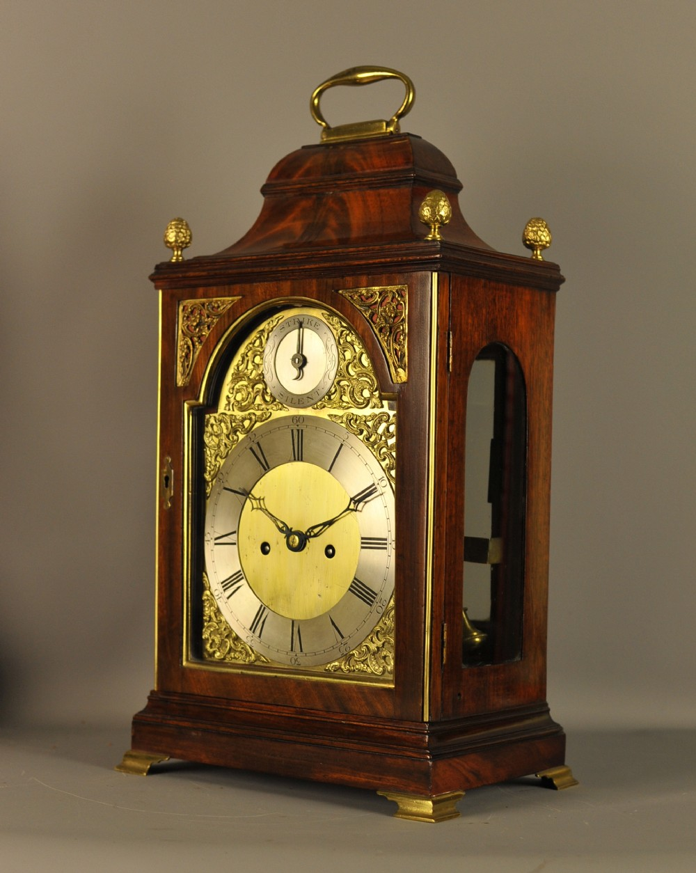 mahogany verge repeating fusee bracket clock
