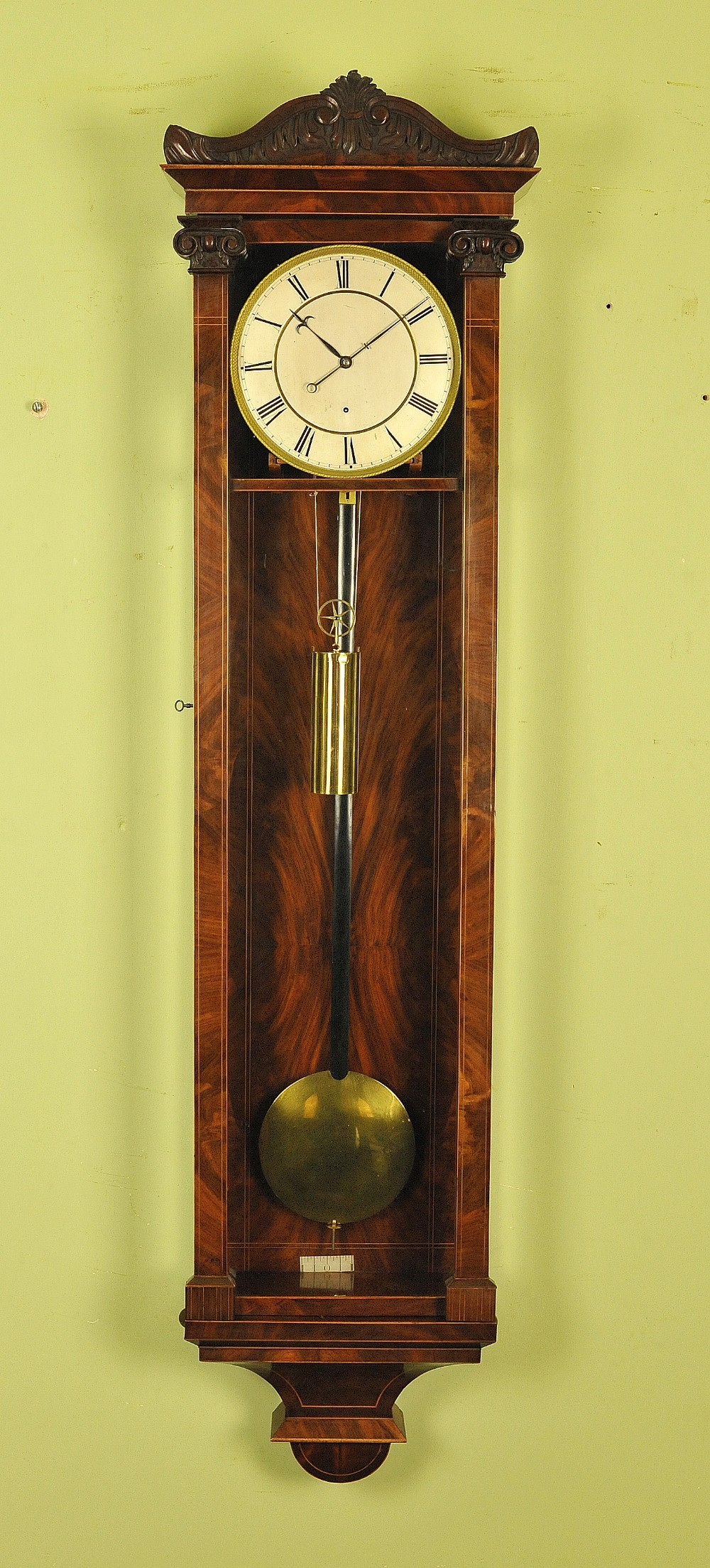 3 month duration dachluhr biedermeier vienna regulator wall clock