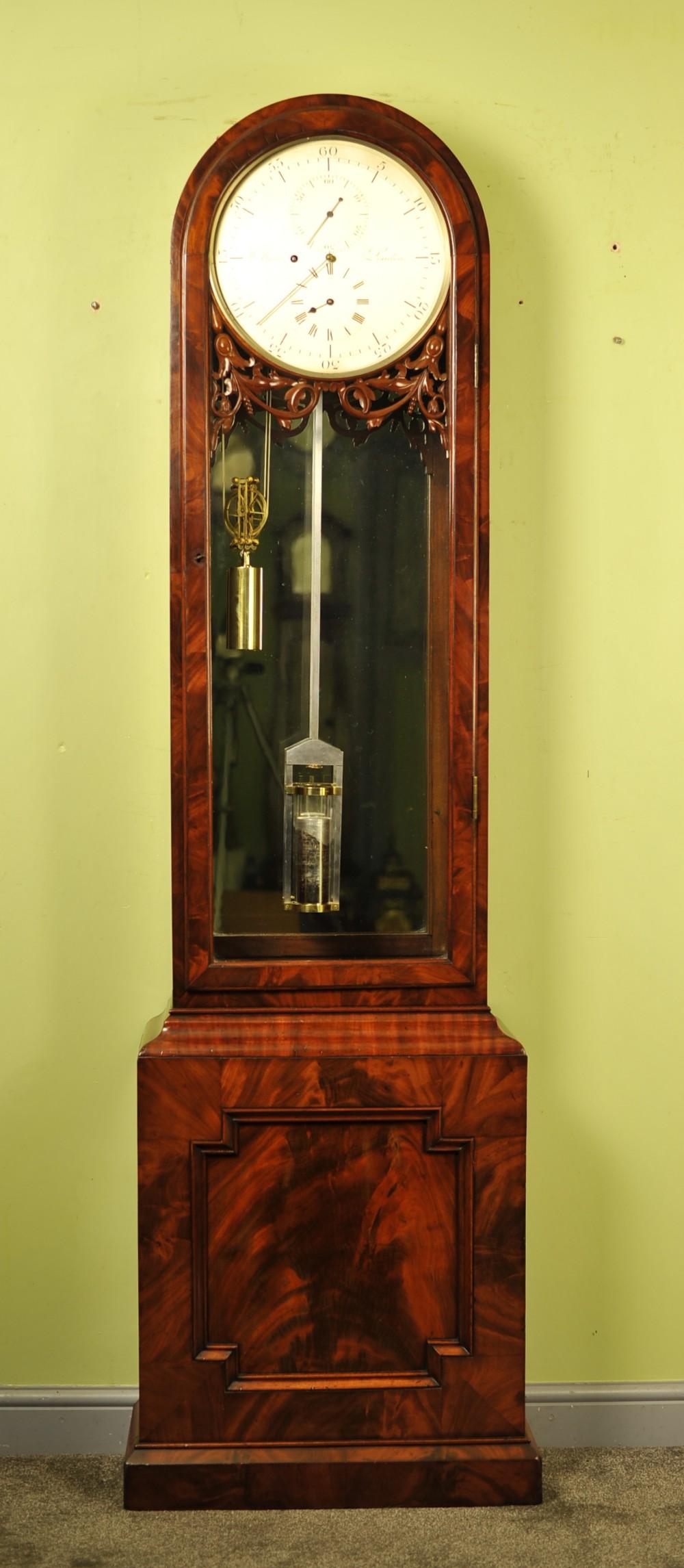 mahogany english precision regulator longcase clock w bone london