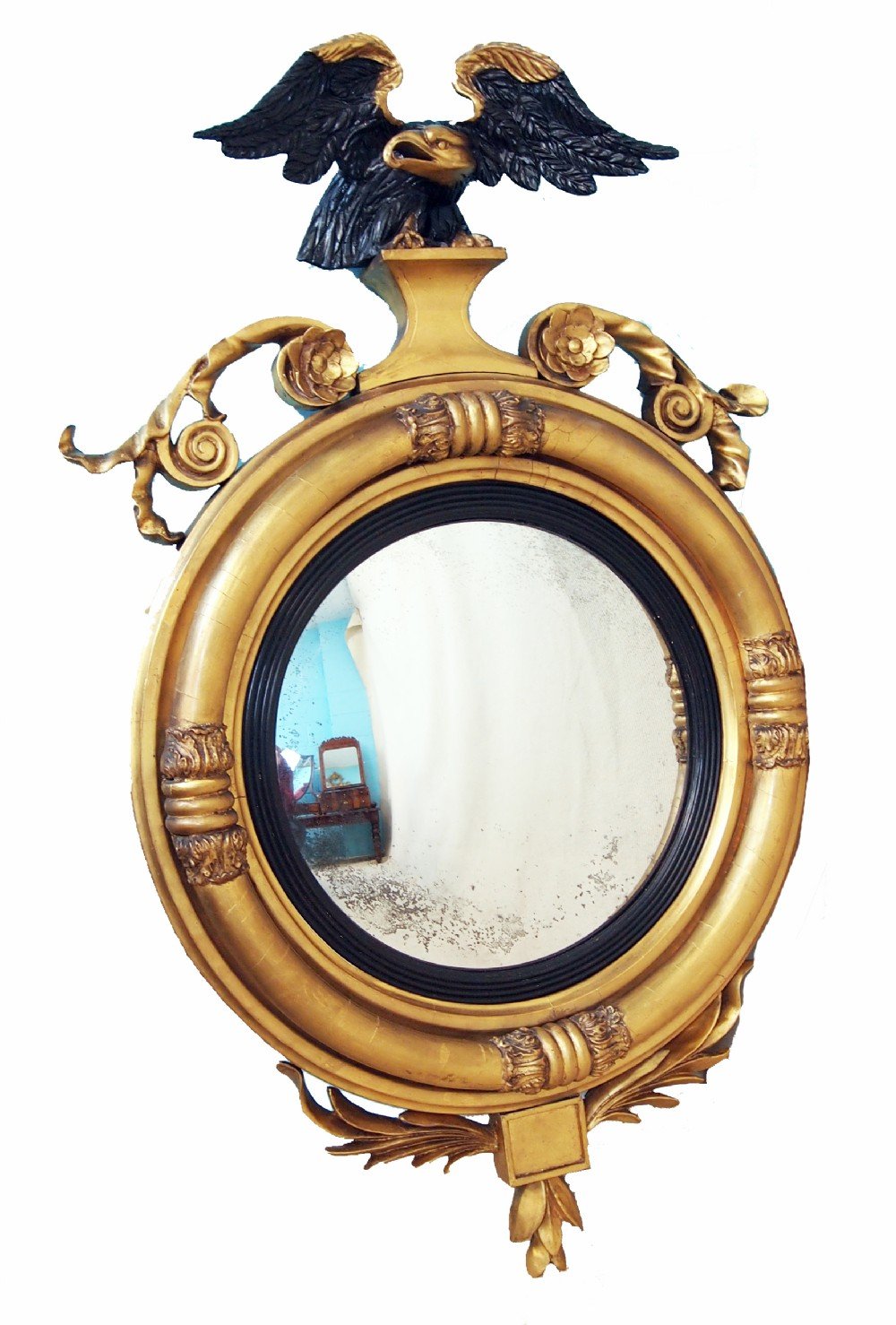 Antique regency gilt convex mirror 251748 for Convex mirror