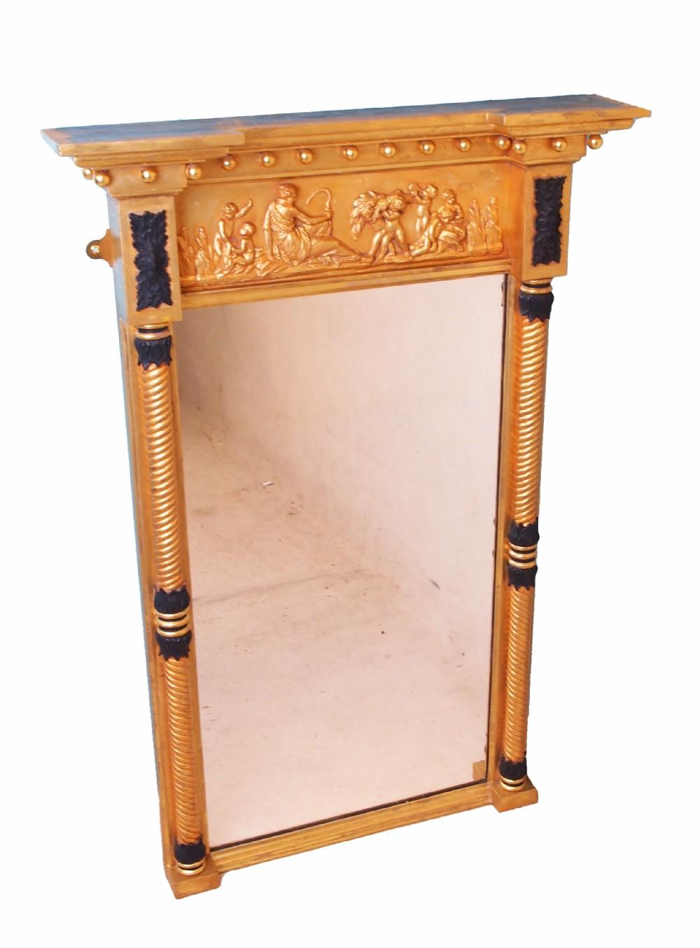 antique regency gilt pier mirror