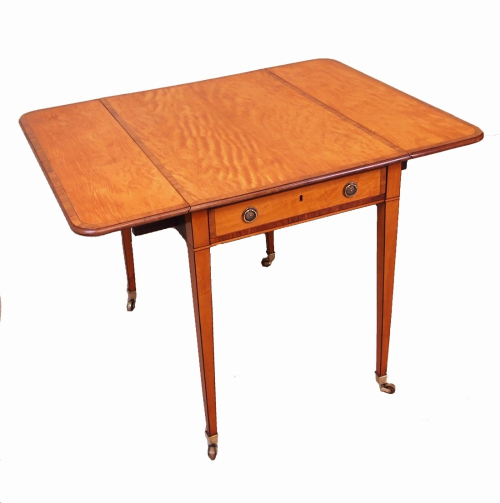 antique 18th century satinwood pembroke table