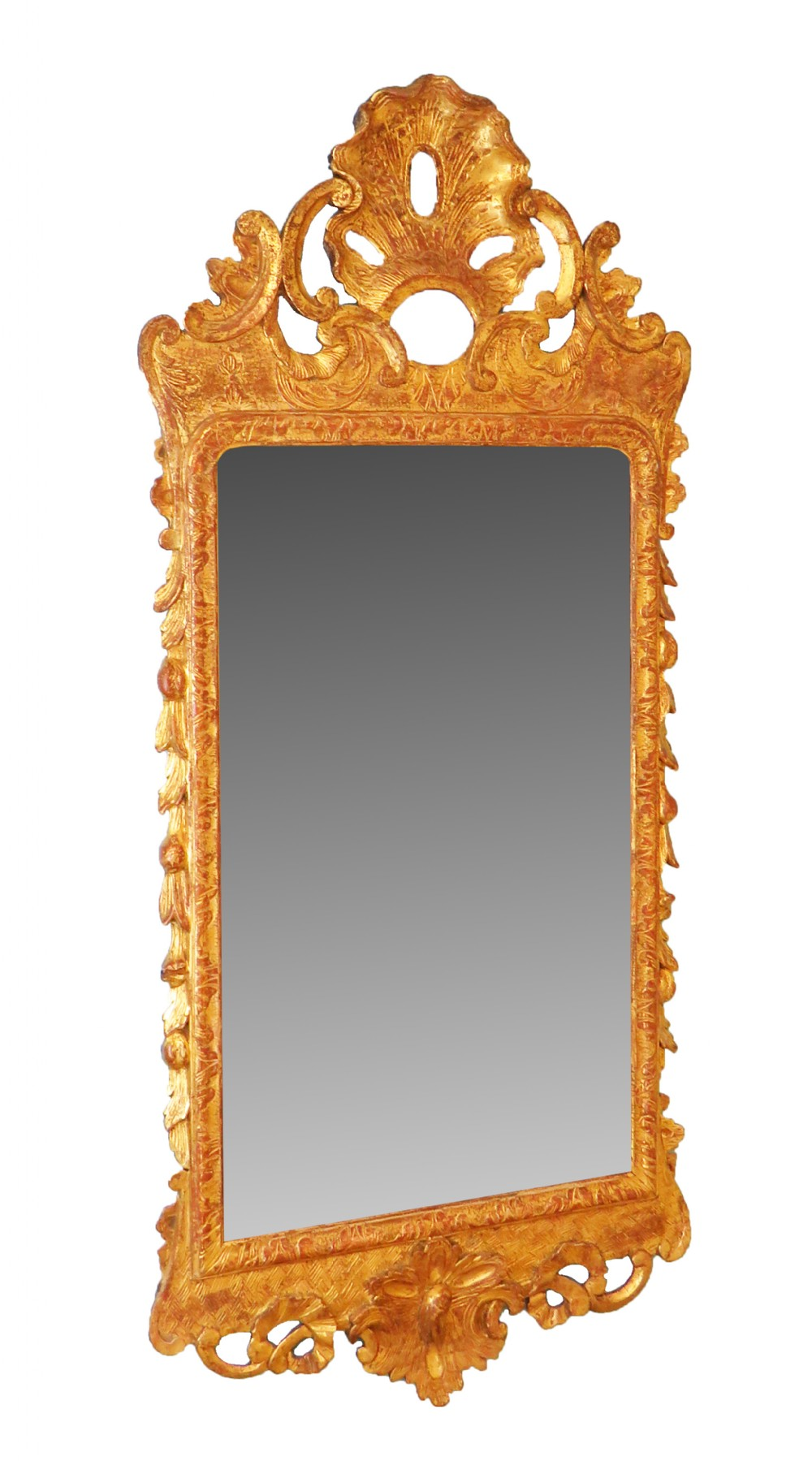 george ii giltwood gesso 18th century antique wall mirror