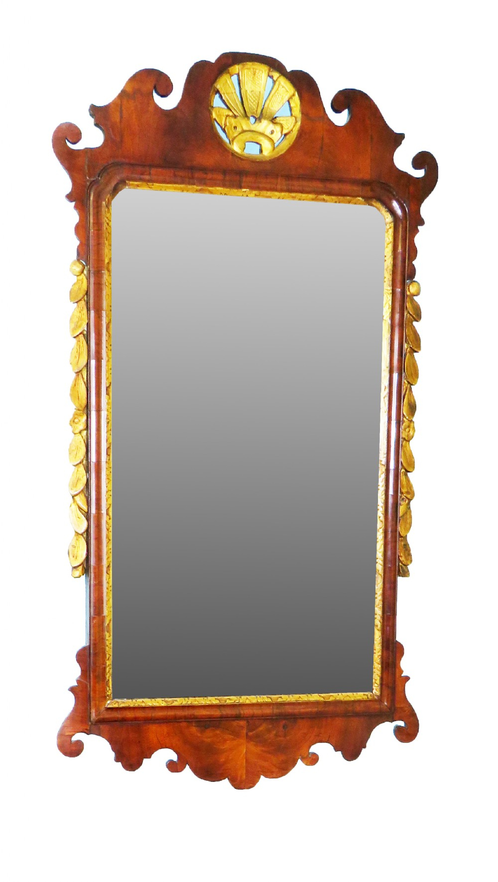 english 18th century walnut gilt georgian antique wall mirror