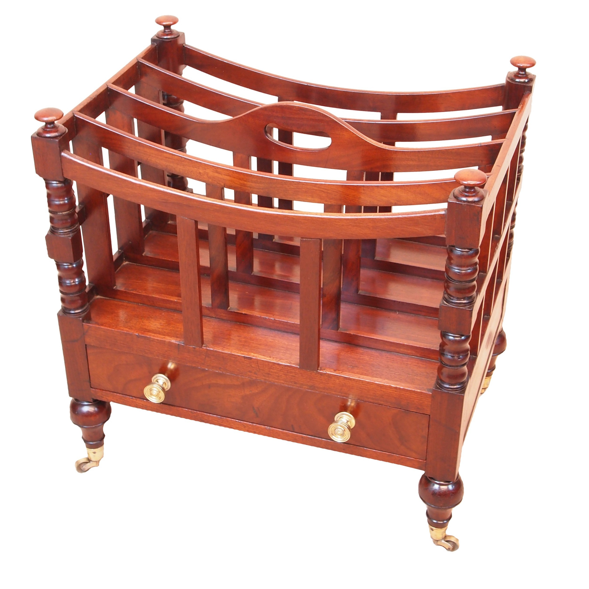 antique regency mahogany boat shaped canterbury