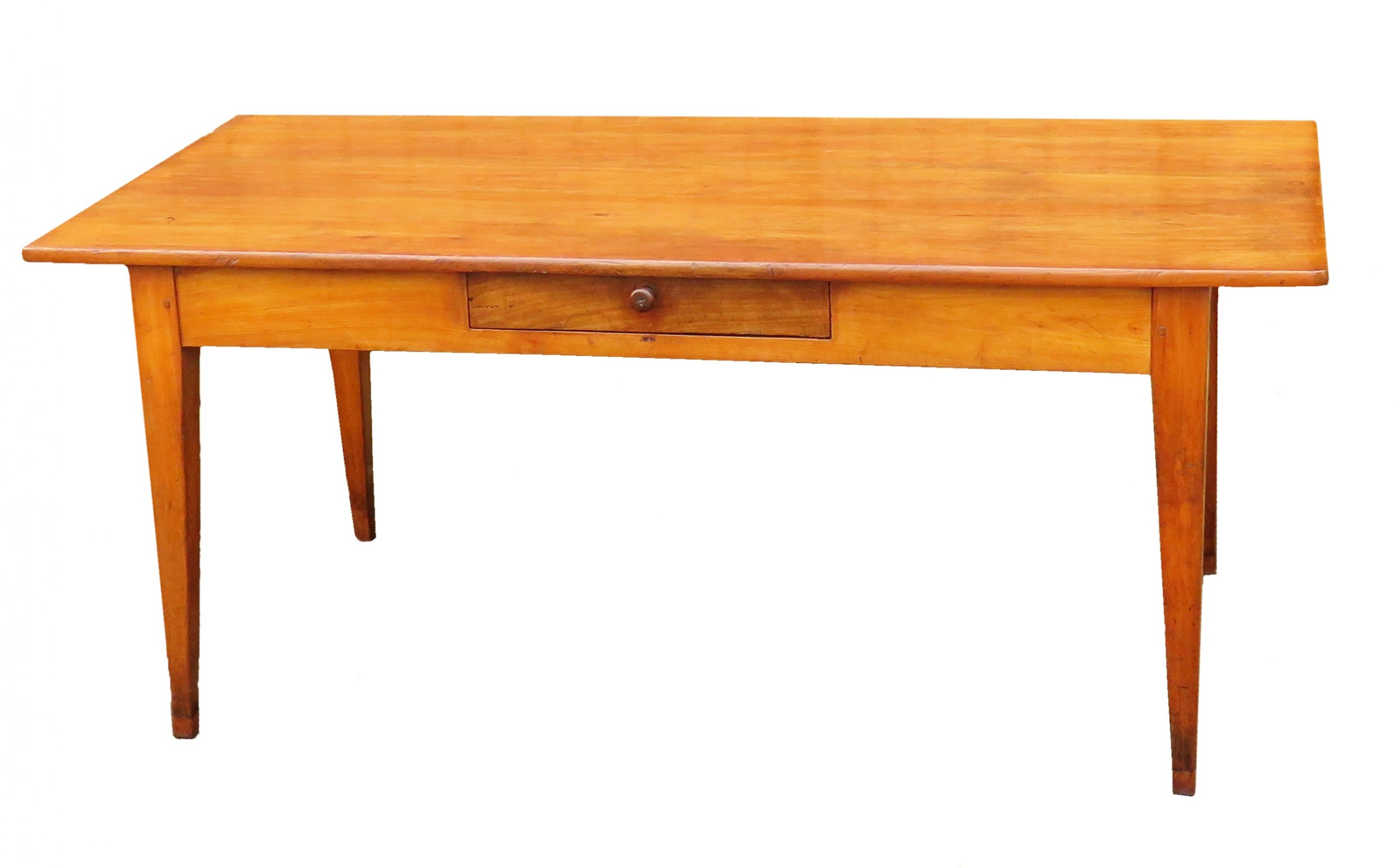 19th century french cherrywood farmhouse antique dining table