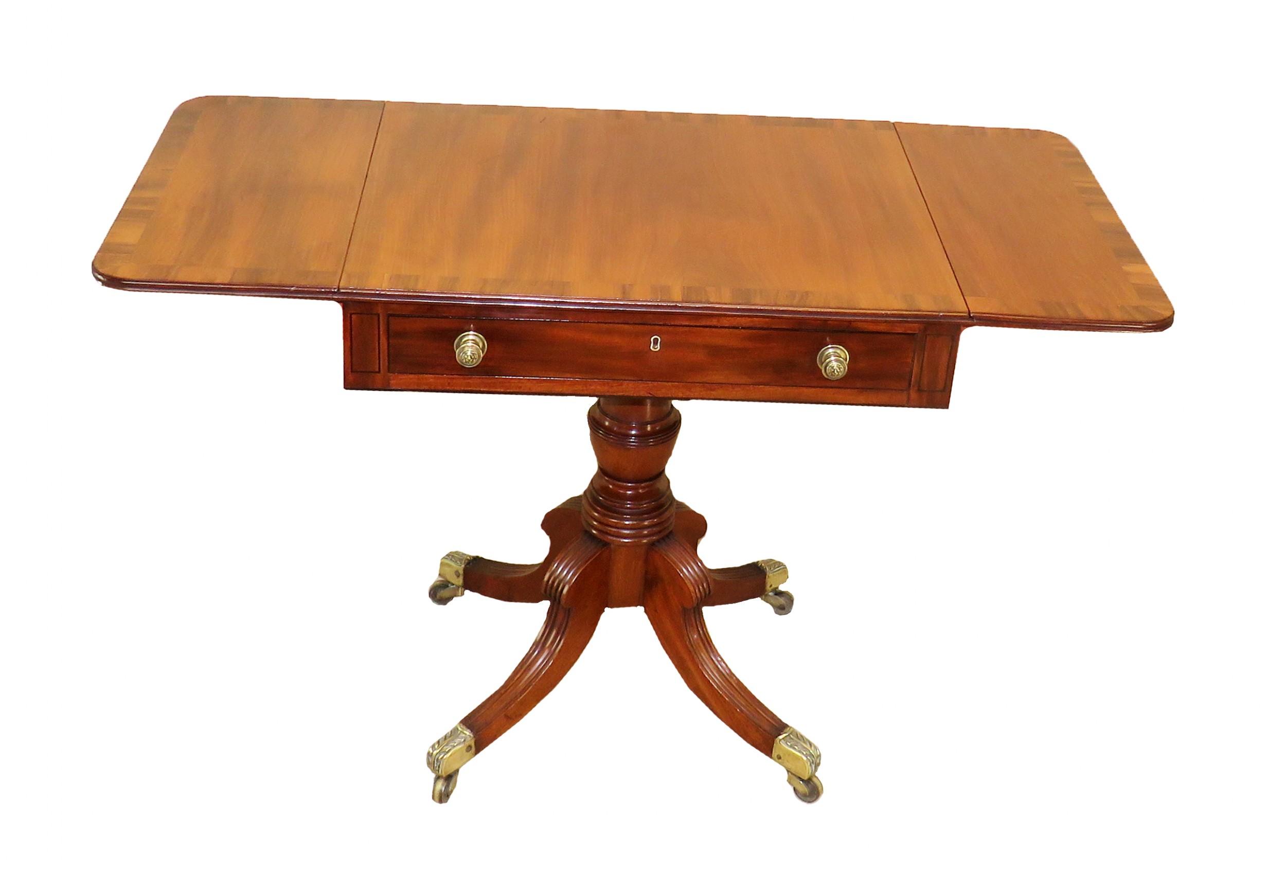 regency mahogany english antique 19th century pembroke table