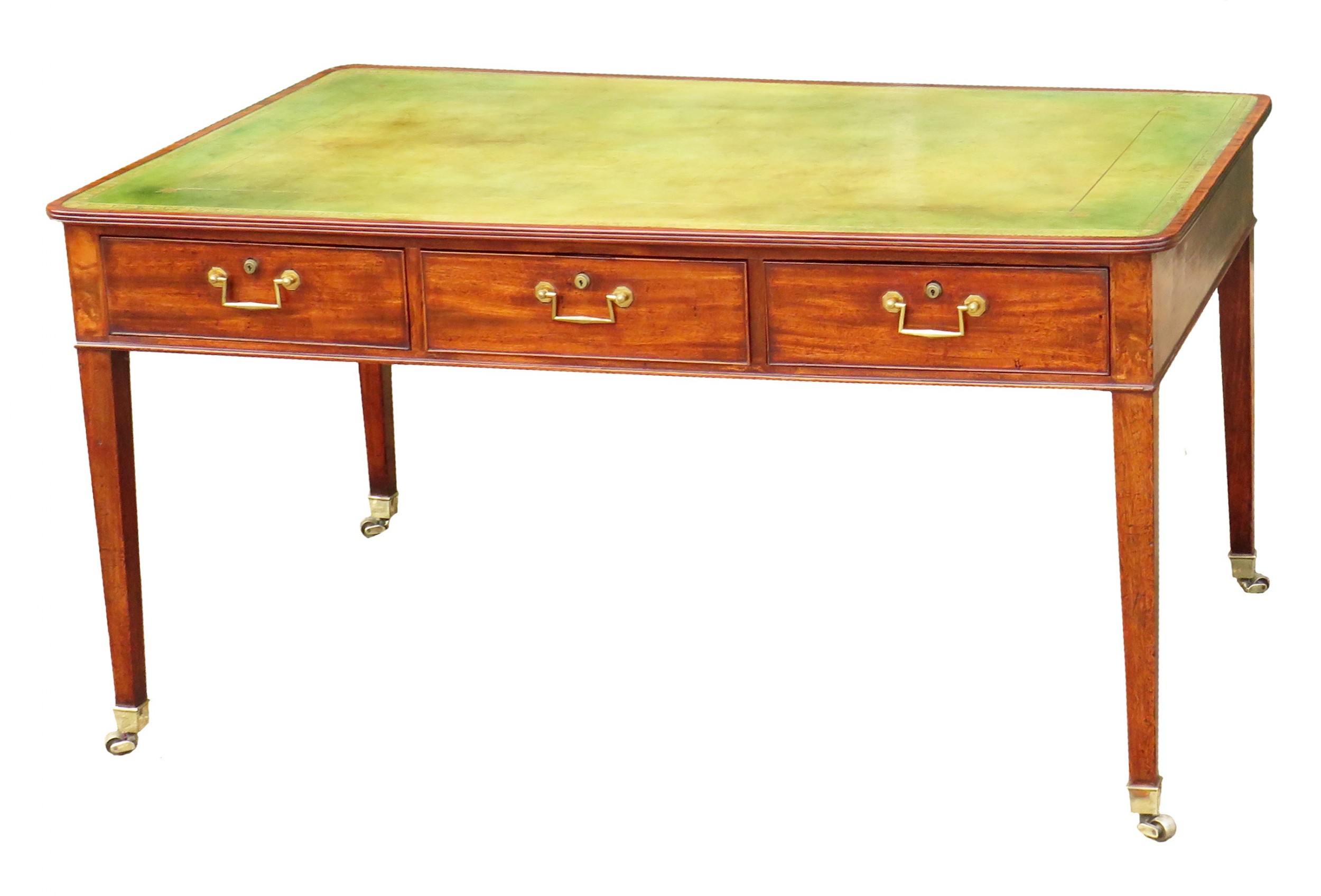 18th century georgian mahogany partners antique writing table