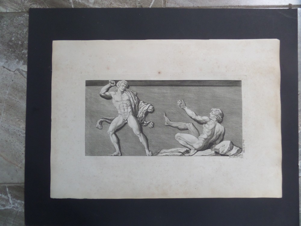 large 18th century mythical engraving by james basire antiquities of athens