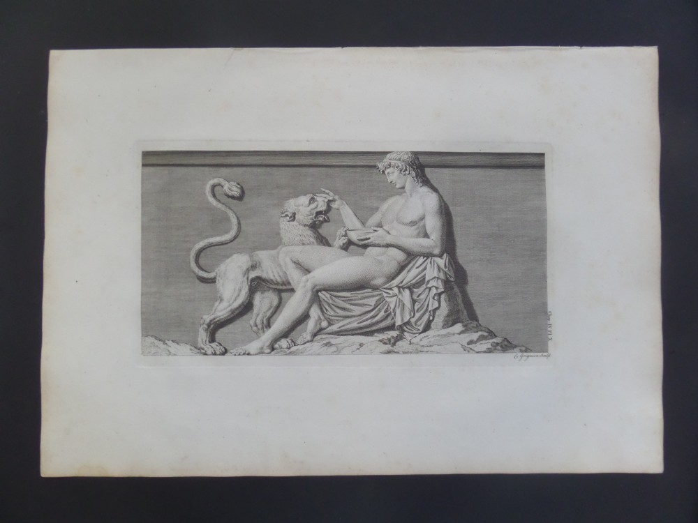 rare large 18th century engraving antiquities of athens charles grignon