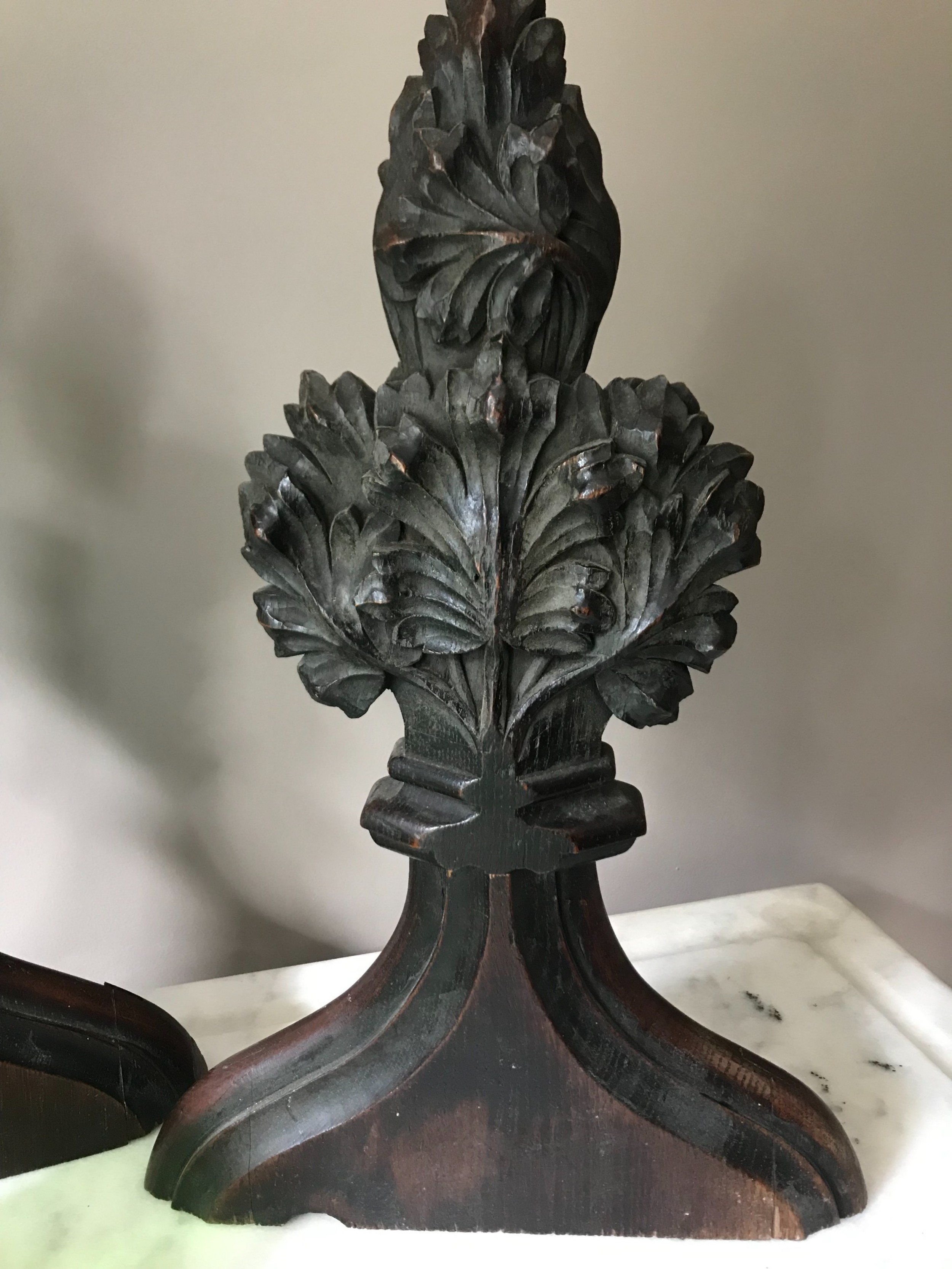 19th century carved oak poppy ecclesiastical carving