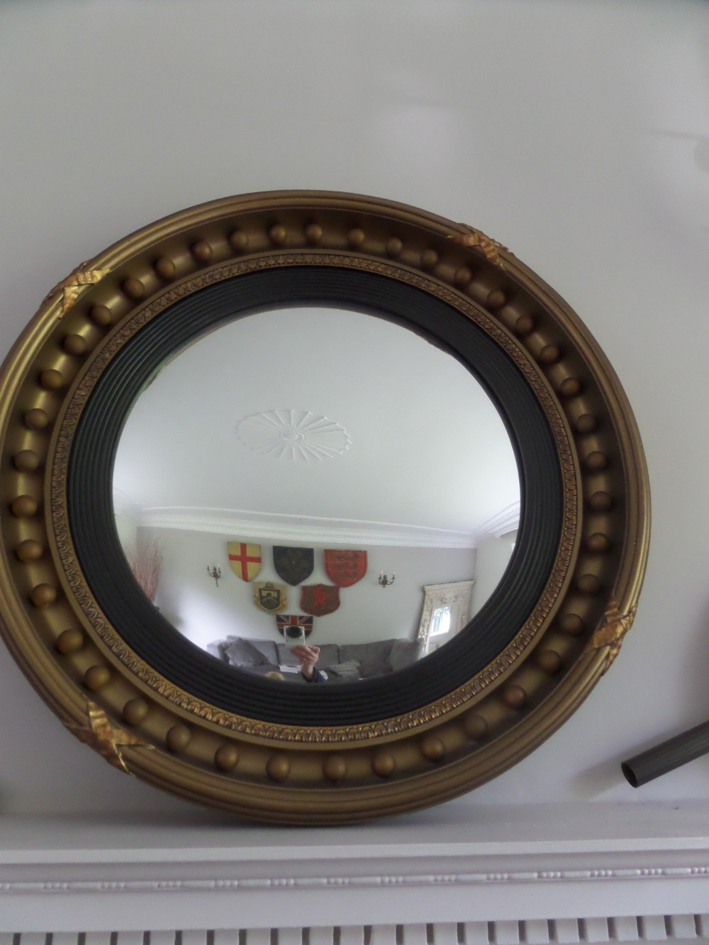 Large antique gilt convex mirror 353609 for What is a gilt mirror