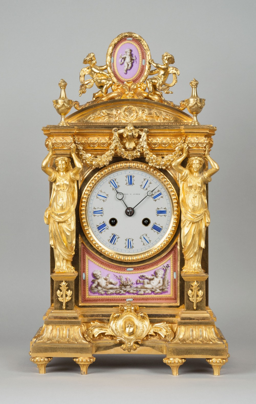 Howell & James Of Regent Street London Mantel Clock C.1870 421249 Sellingantiques.co.uk