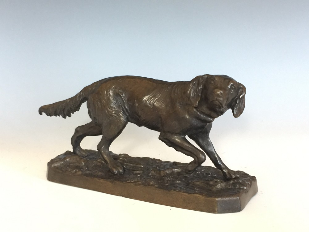 antique bronze retriever after pj mene retailed by jj mechi