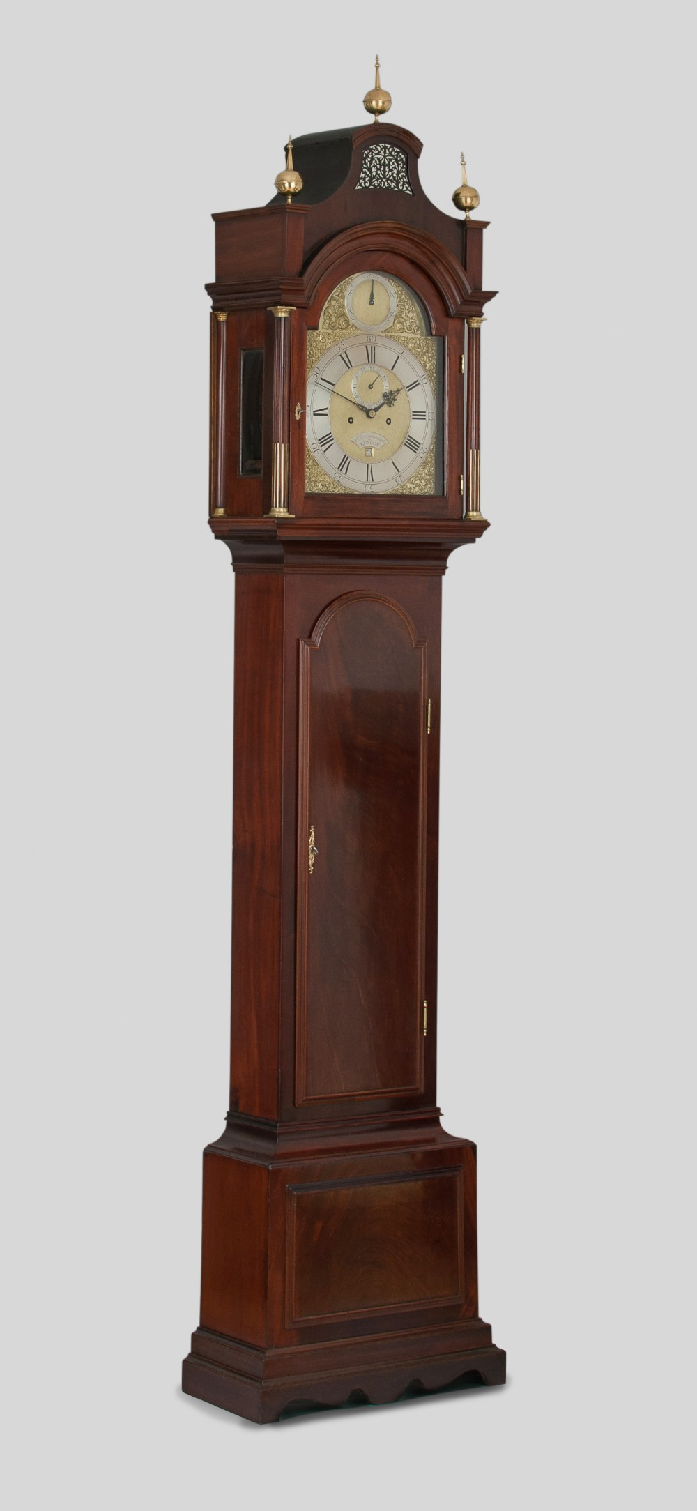 a fine quality flame mahogany london longcase grandfather clock circa 1760