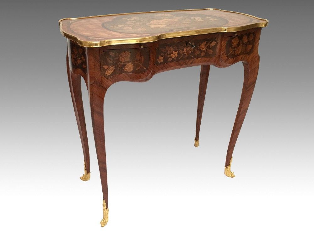 antique kingwood marquetry table french circa 1880
