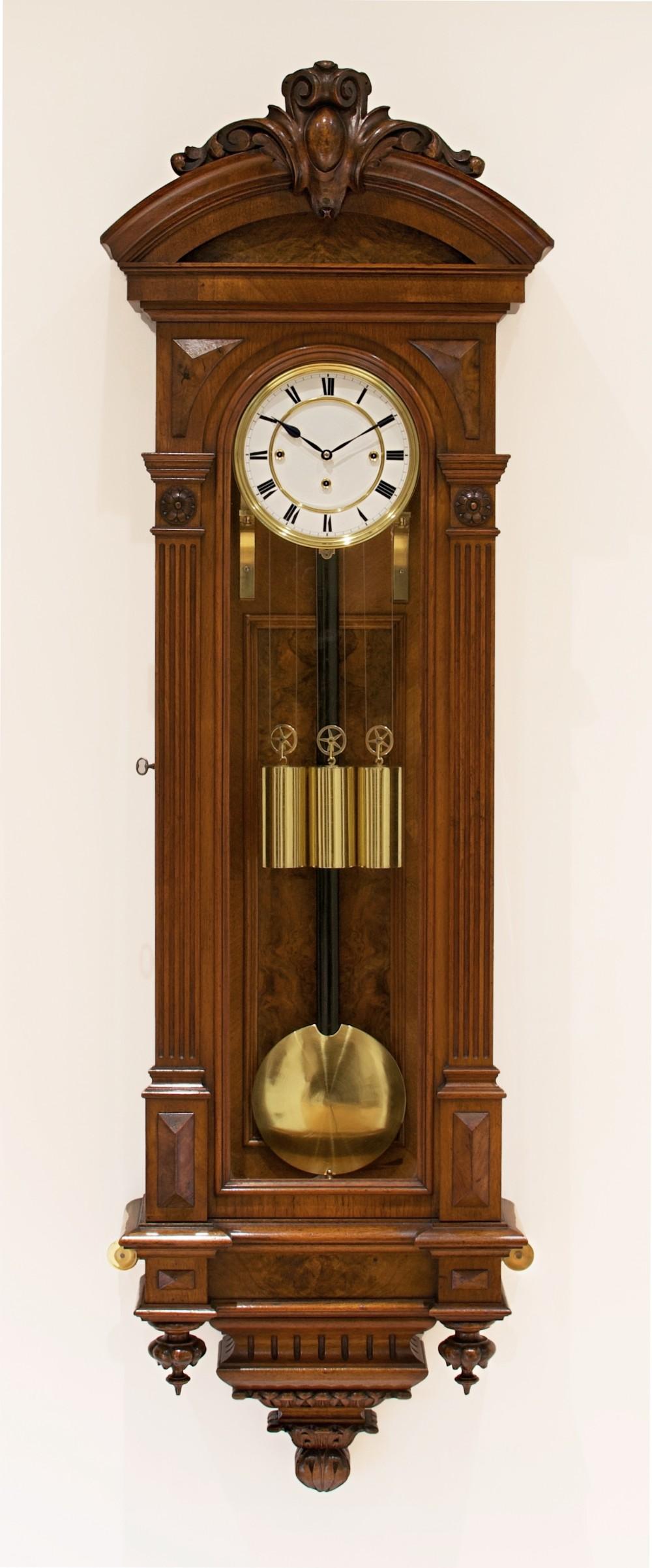 a fine quality altdeutsch vienna regulator wall clock circa 1875