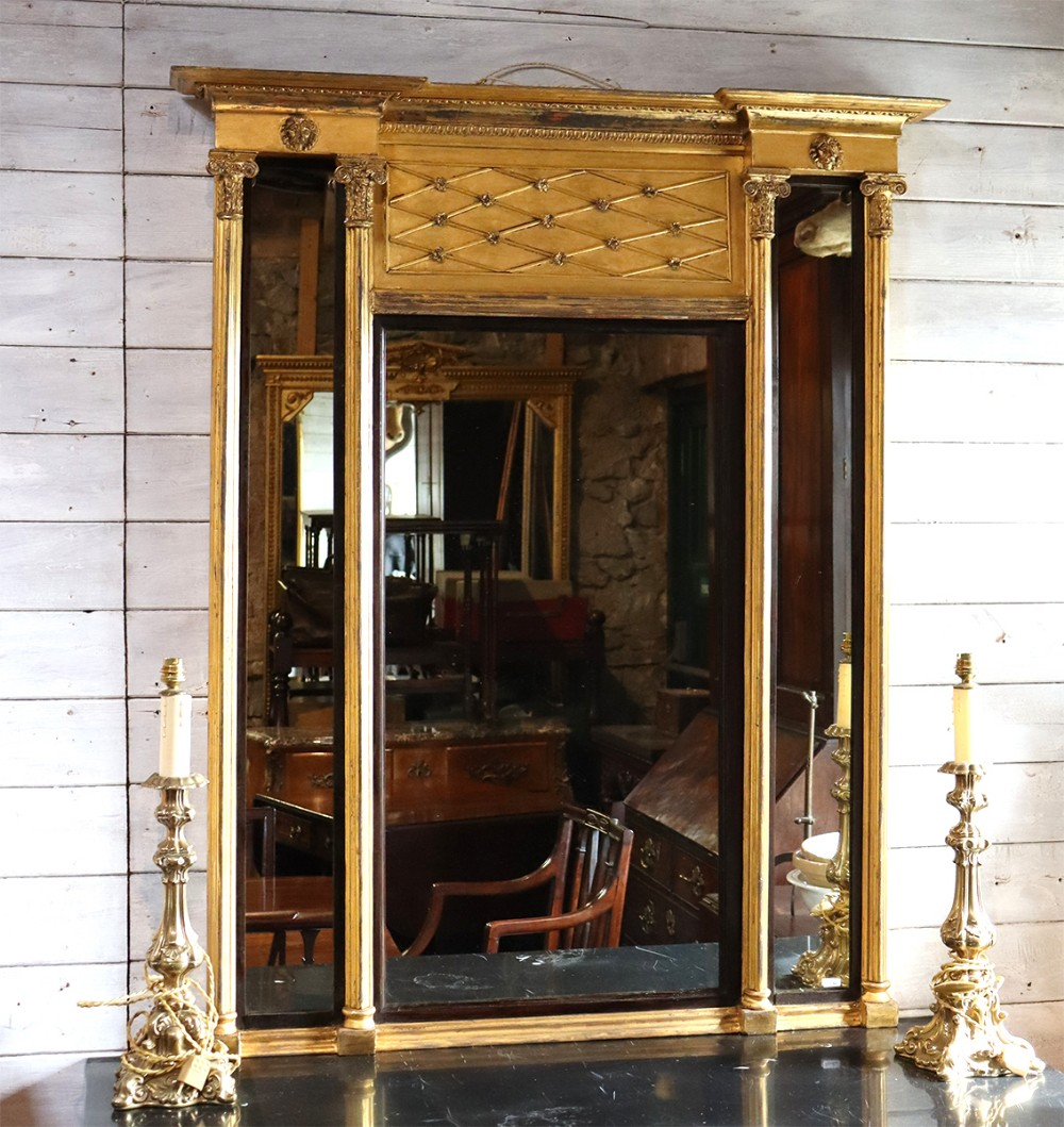 regency gilt pier mirror