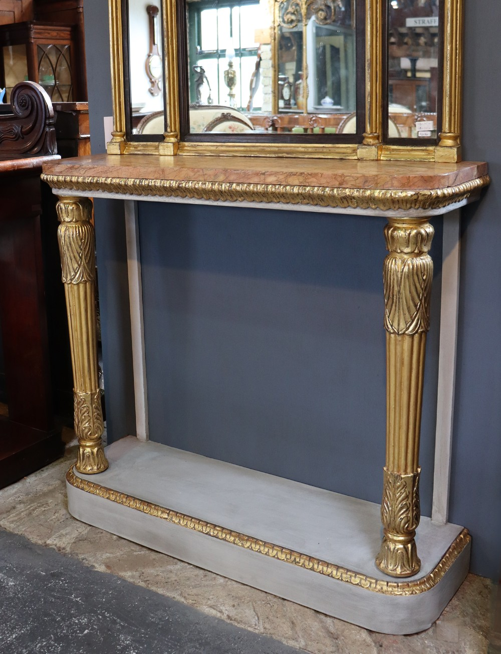 william iv gilt and painted console table