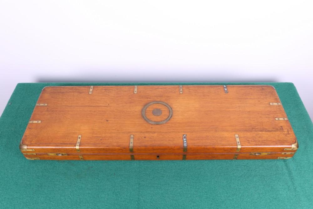 single oak gun case circa 1880 interesting type