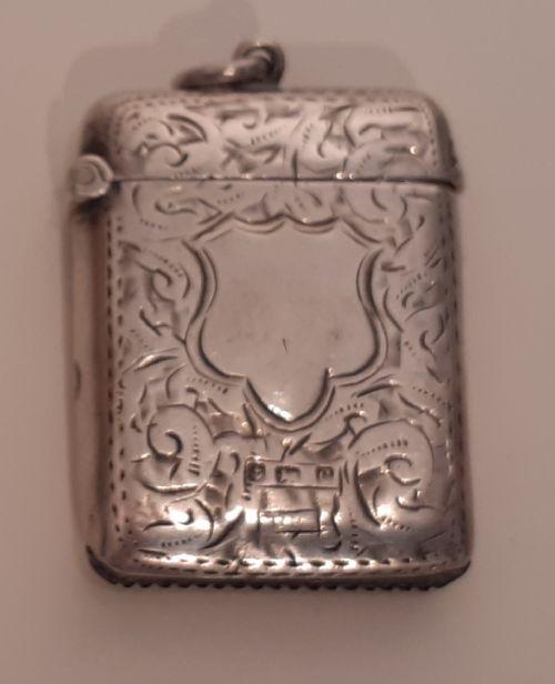 silver vesta case hallmarked 1902