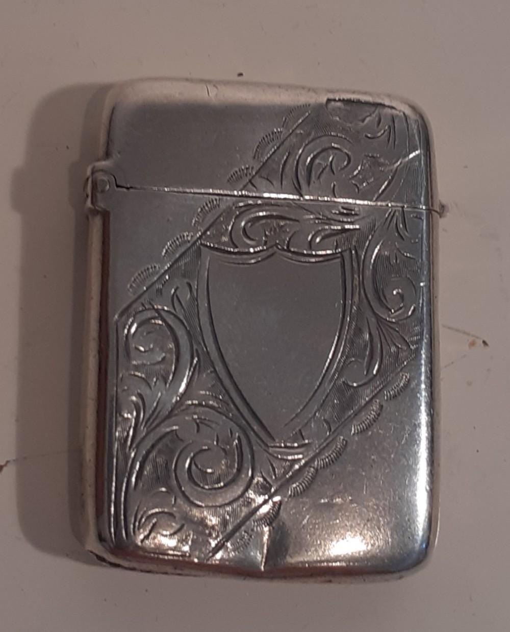 silver vesta case hallmarked 1898