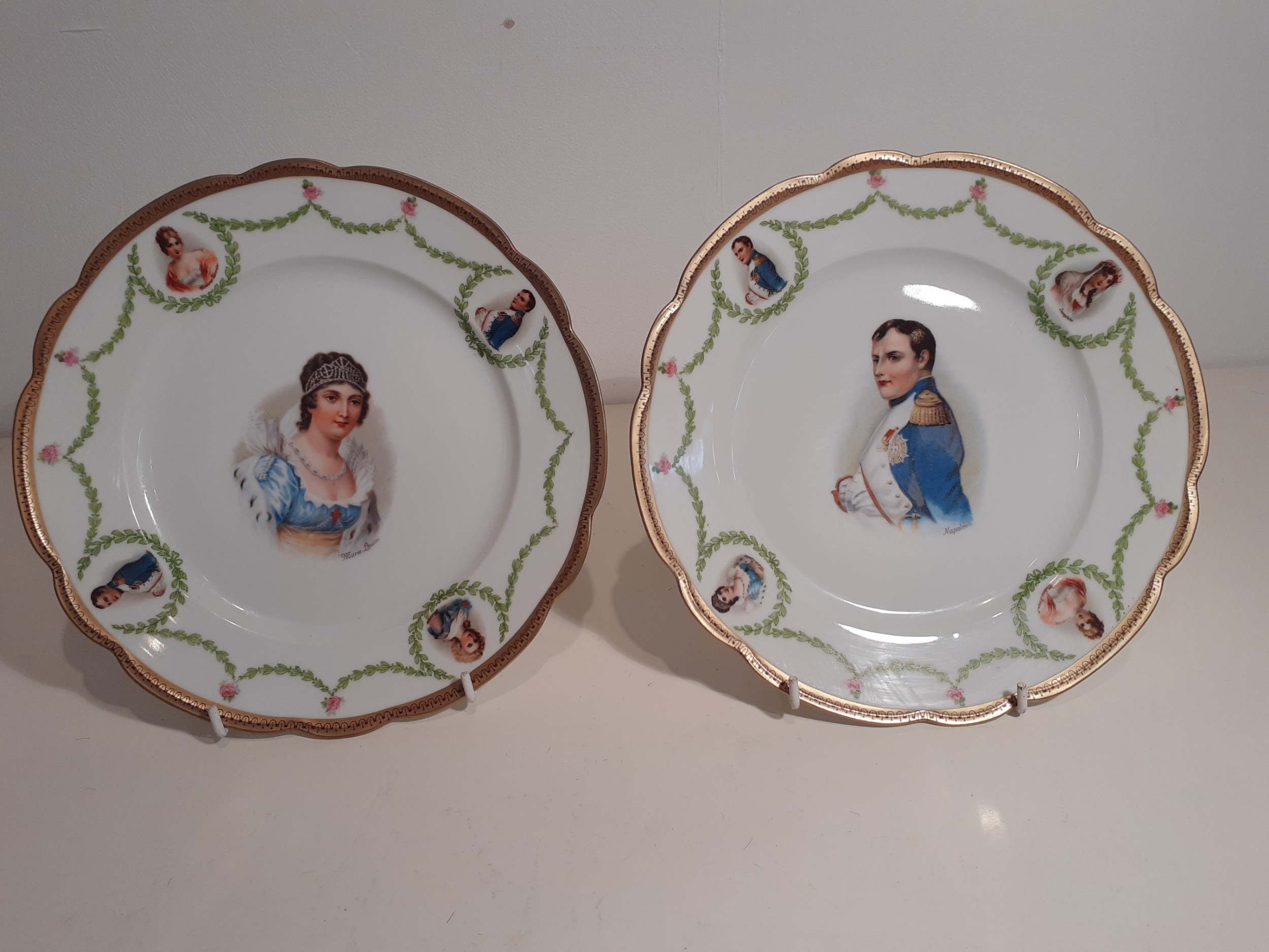 collector's plate depicting napoleon and his wife josephine pre 1909
