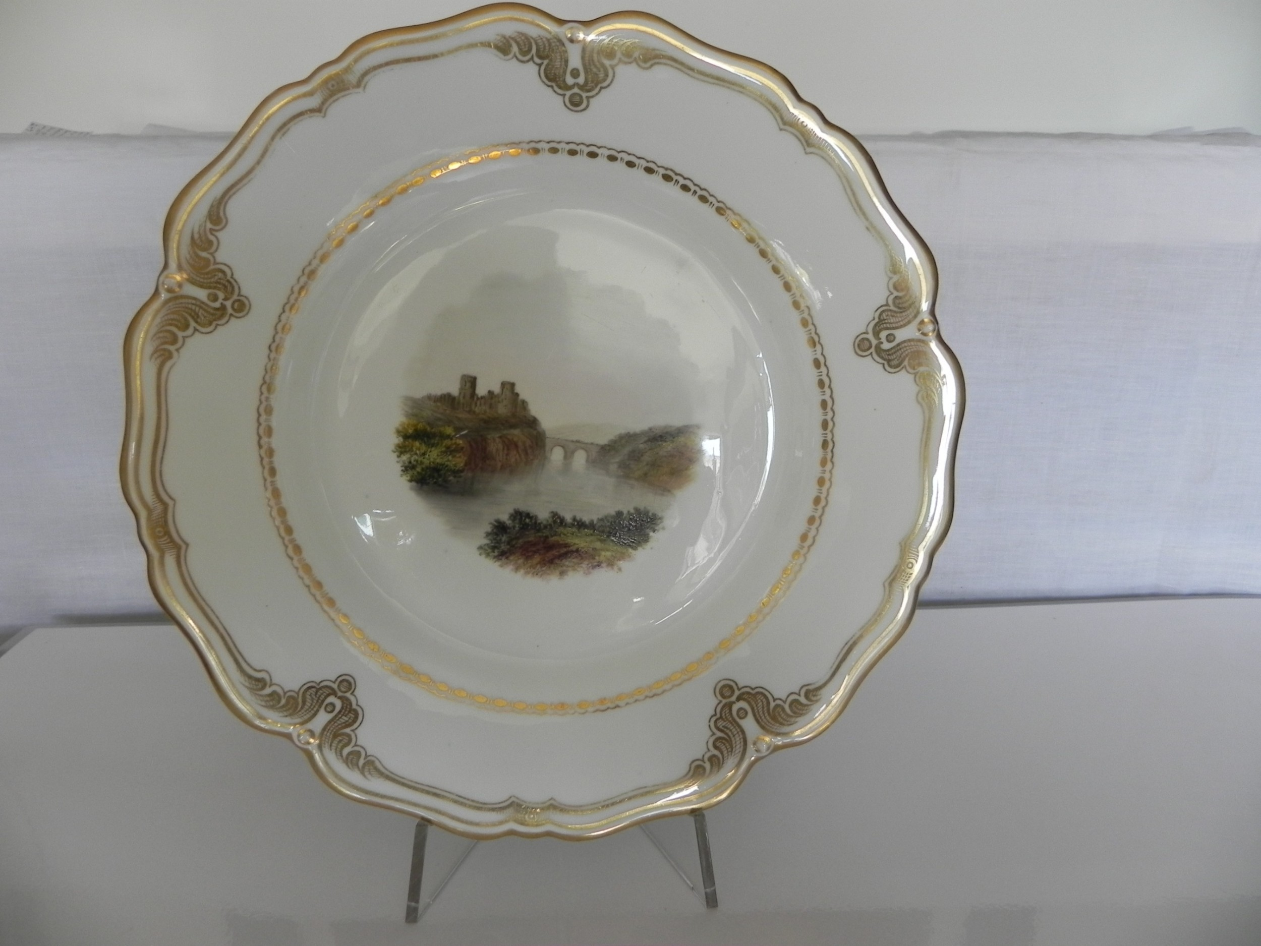 hand painted collector's plate barnard castle