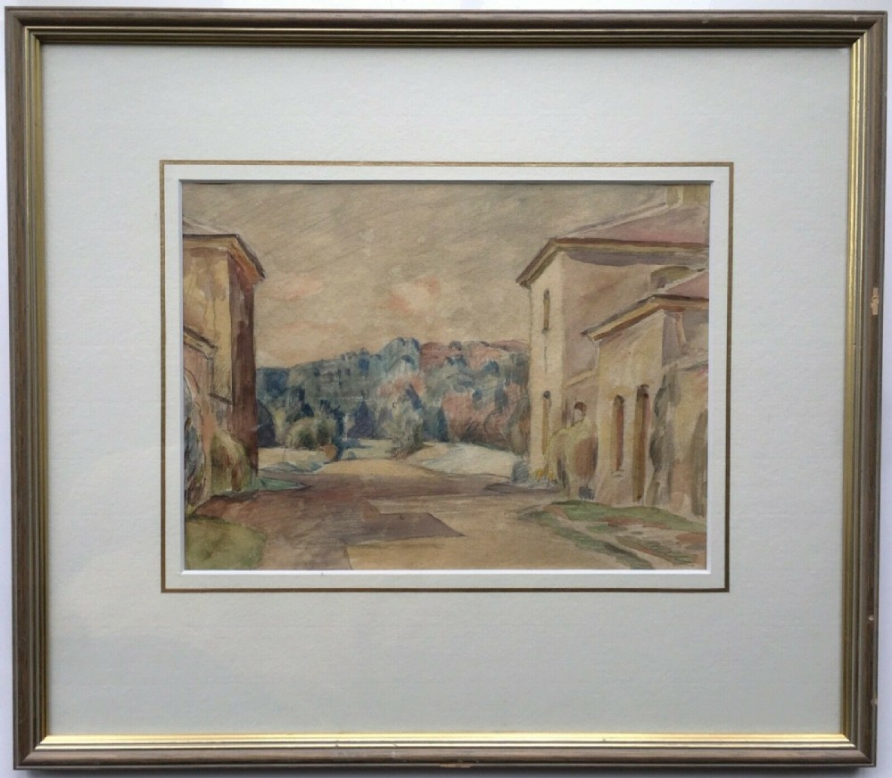 william bernard adeney c1930 original watercolour painting south of france