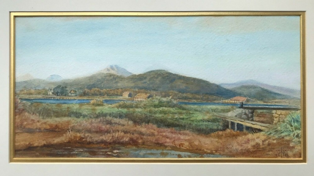 waller hugh paton rsa rsw 1882 signed original 19th century antique watercolour painting scottish highland landscape
