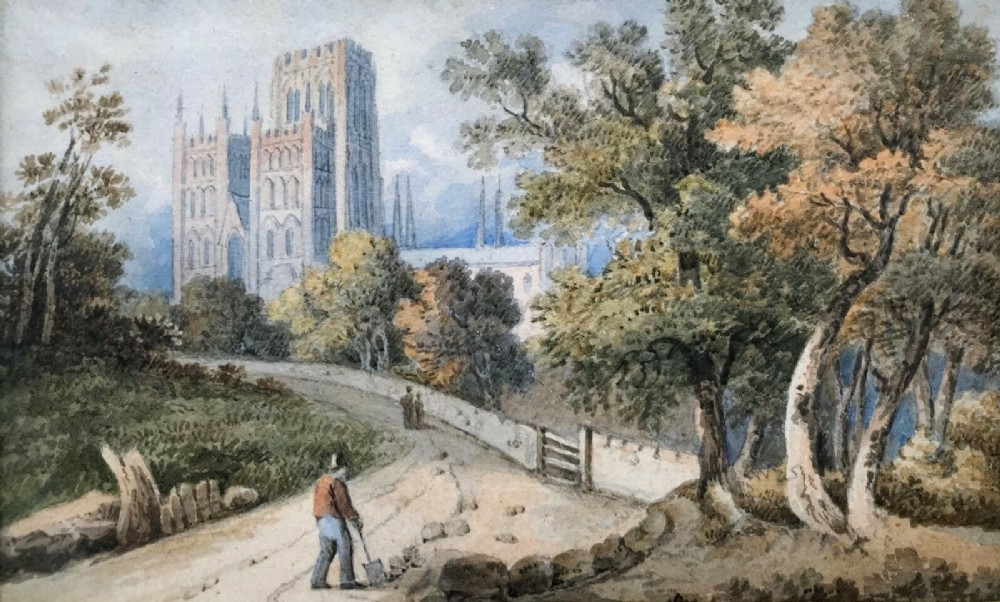 original early 19th century english antique watercolour painting view of york minster inscribed dated 1825