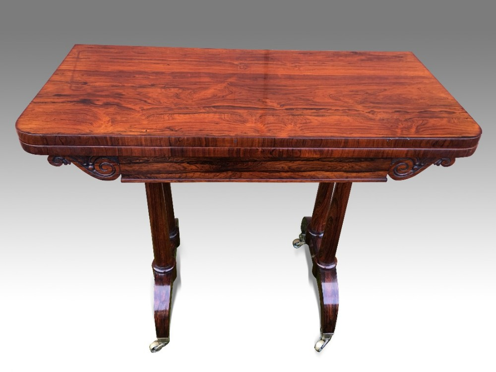 a fine regency rosewood card or games table