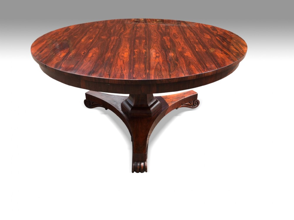 a superb large regency rosewood centre table attributed to gillows