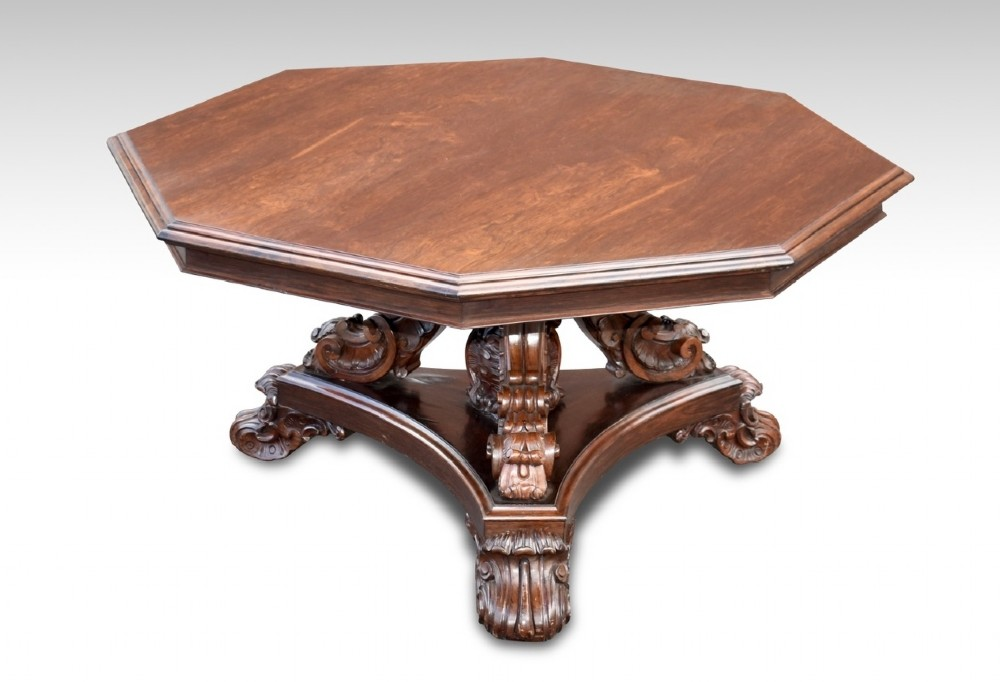 a superb important early 19th c irish rosewood centre table attributed to robert strahan dublin