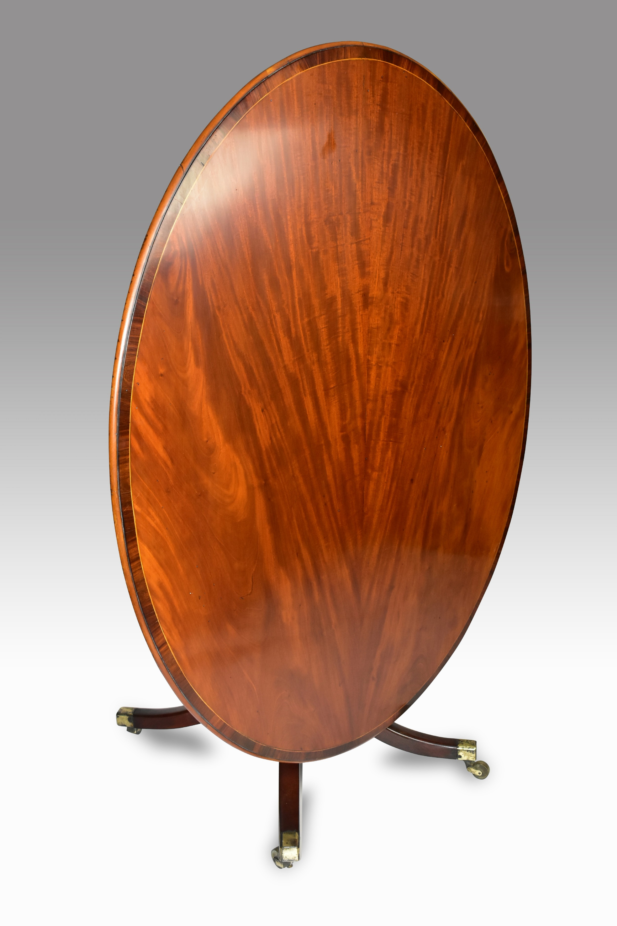 a fine george iii mahogany oval tilt top breakfast table