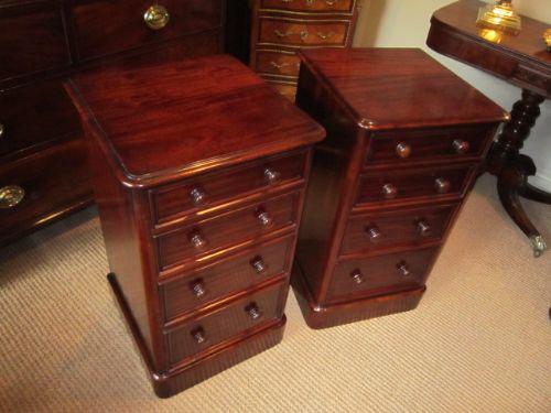 Superb Pair Victorian Mahogany Bedside Cabinets 272570