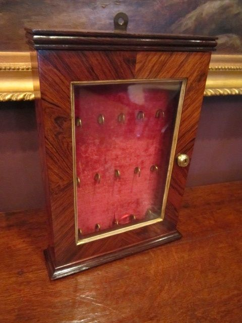superb rare early victorian rosewood key cabinet - Superb Rare Early Victorian Rosewood Key Cabinet 314935