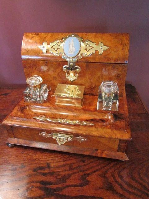 top quality victorian walnut desk tidy. antique photo - Top Quality Victorian Walnut Desk Tidy 398919 Sellingantiques