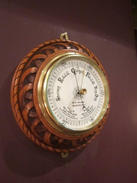 quality victorian rope design 'ships' barometer