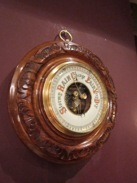 quality victorian polished walnut barometer