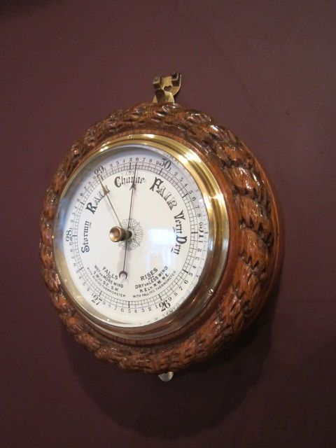 top quality victorian ships rope twist barometer