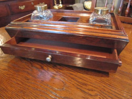 page load time 0.27 seconds - Superb Regency Period Rosewood Desk Tidy 501022 Sellingantiques