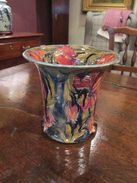 Superb Early Moorcroft Spanish Flared Top Vase 503209