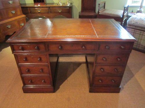 top quality mid victorian mahogany pedestal desk