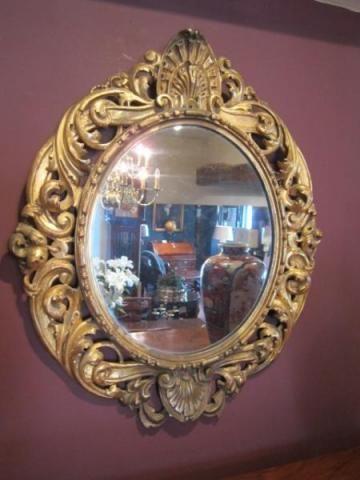 mid 19th century timber gilt florentine mirror